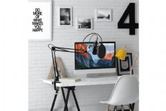 Maono Studio Microphone Kit USB Connection Table Spring Loaded Boom Arm & Pop Filter